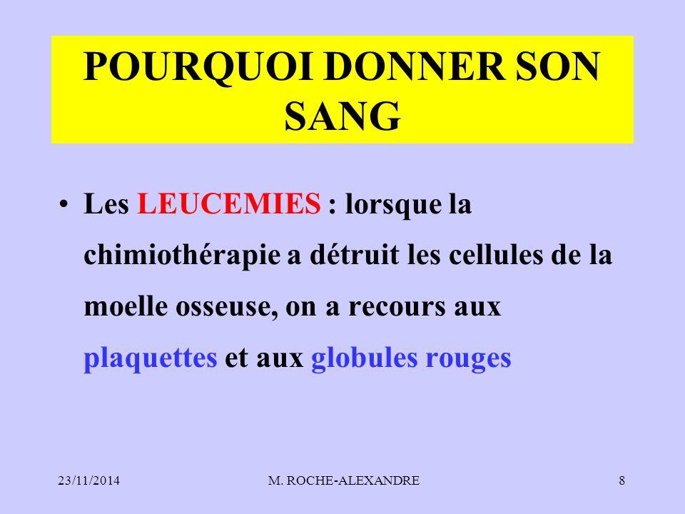 POURQUOI DONNER SON SANG