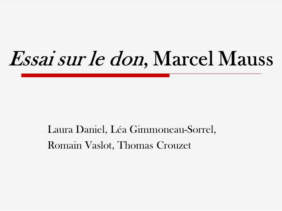 Essai sur le don, Marcel Mauss