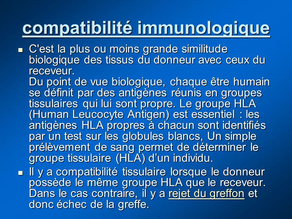 compatibilité immunologique