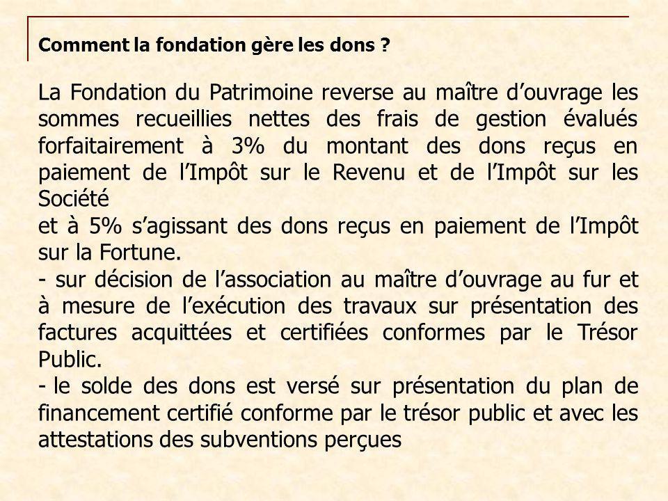 Comment la fondation gère les dons