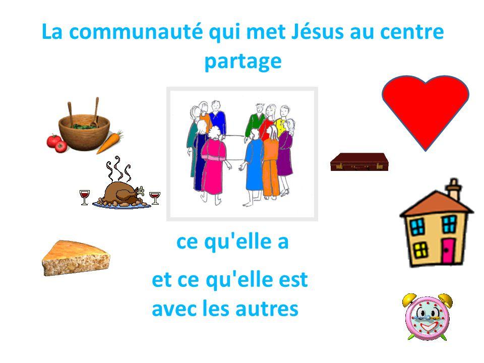 La communauté qui met Jésus au centre partage
