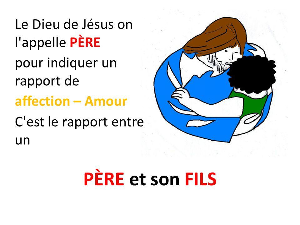 PÈRE et son FILS Le Dieu de Jésus on l appelle PÈRE: