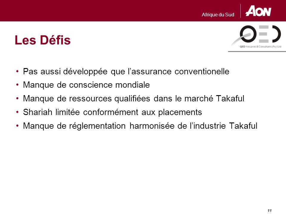 Résumé L'assurance Takaful est basée sur les principes de la Sharia