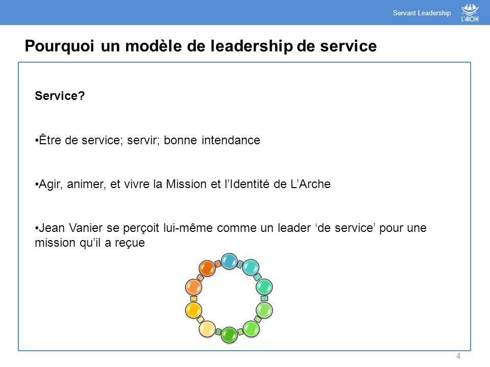 Pourquoi un modèle de leadership de service