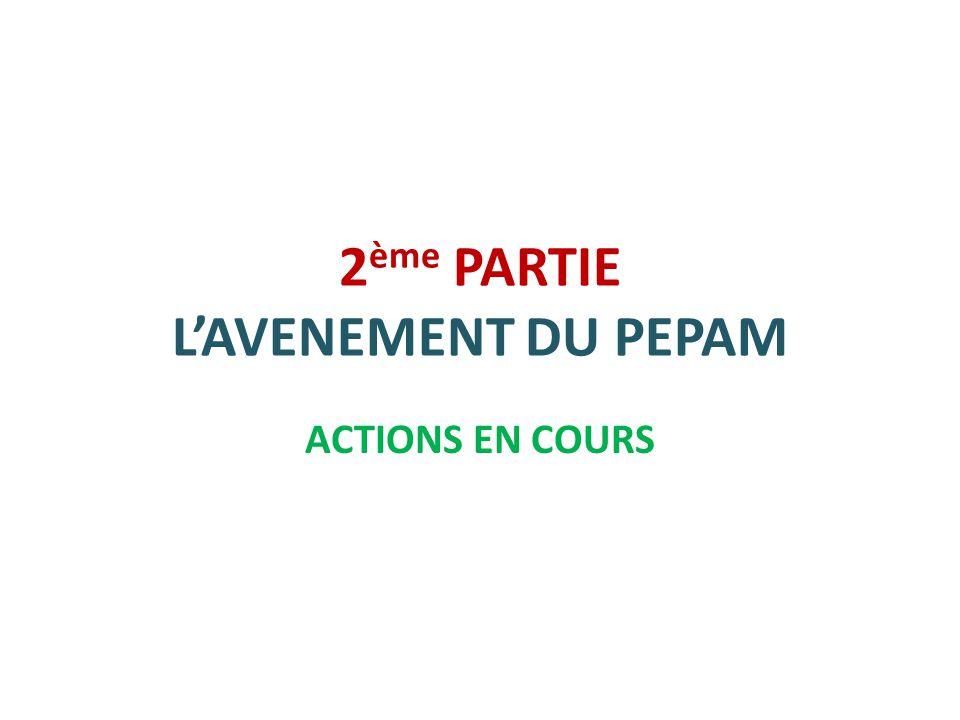 2ème PARTIE L'AVENEMENT DU PEPAM