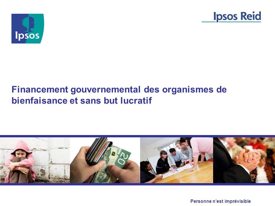 Financement gouvernemental des organismes de bienfaisance et sans but lucratif