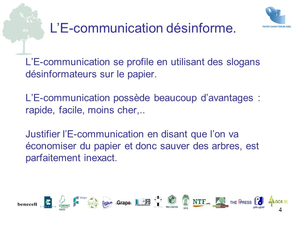 L'E-communication désinforme.