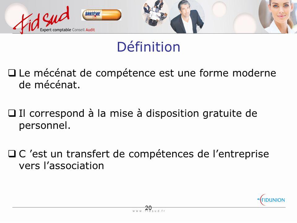 Définition Le mécénat de compétence est une forme moderne de mécénat.