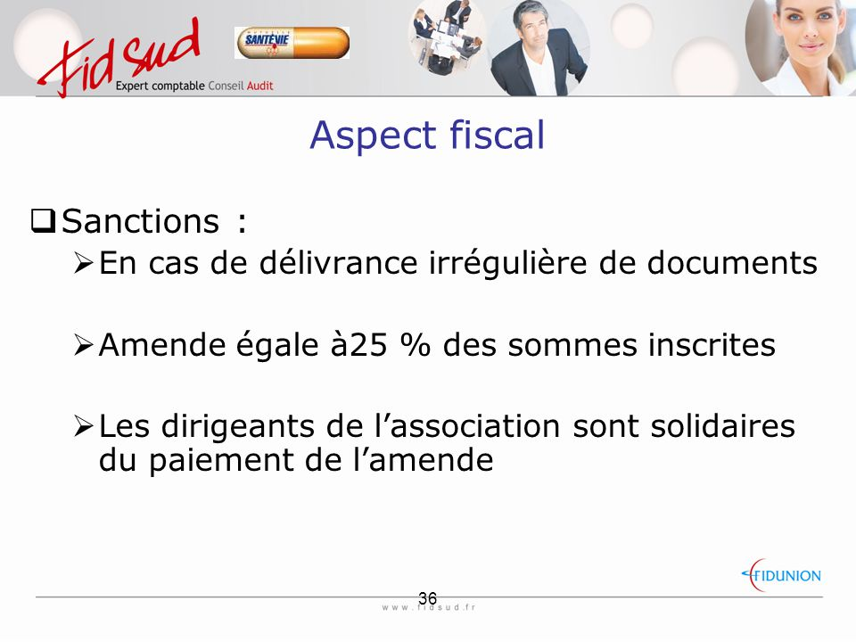 Aspect fiscal Sanctions :