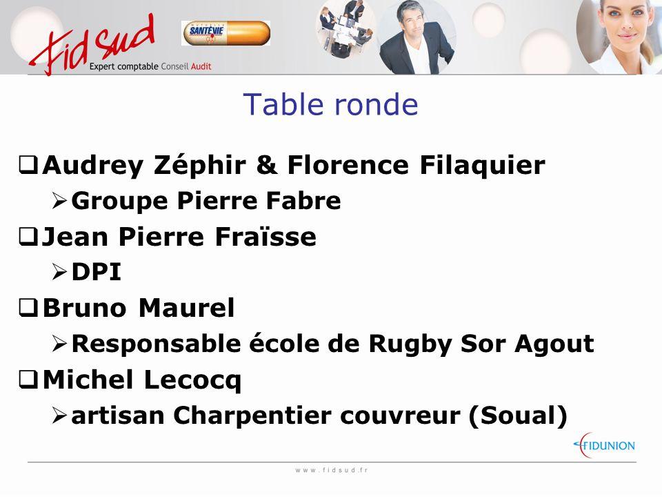 Table ronde Audrey Zéphir & Florence Filaquier Jean Pierre Fraïsse
