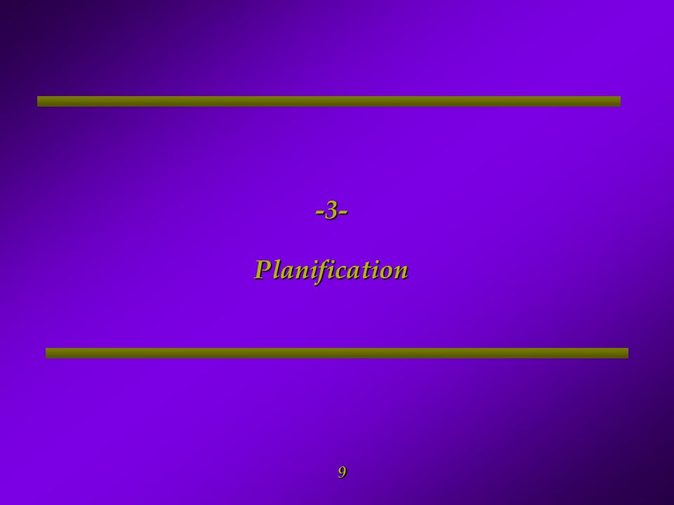 -3- Planification