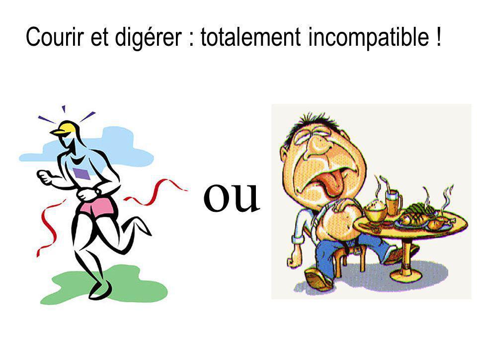 Courir et digérer : totalement incompatible !