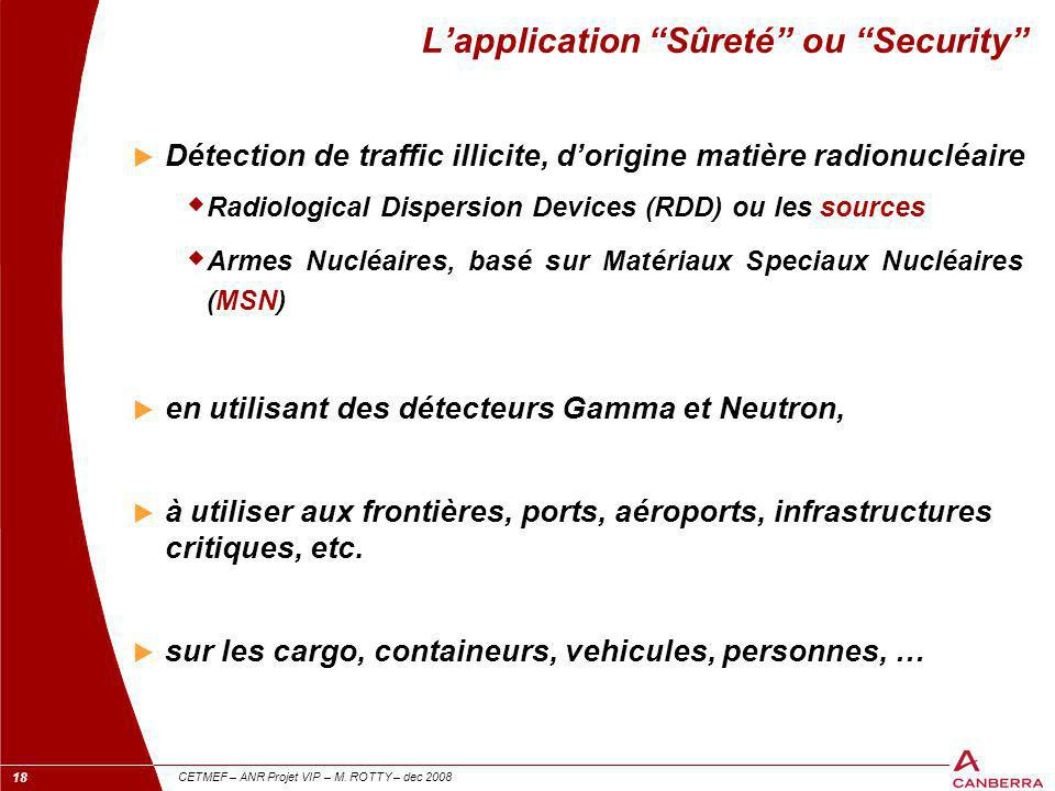 L'application Sûreté ou Security