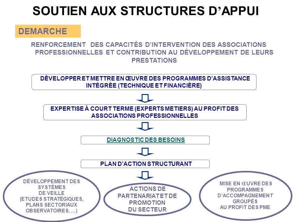 SOUTIEN AUX STRUCTURES D'APPUI