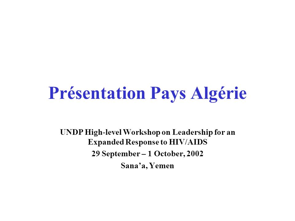 Présentation Pays Algérie