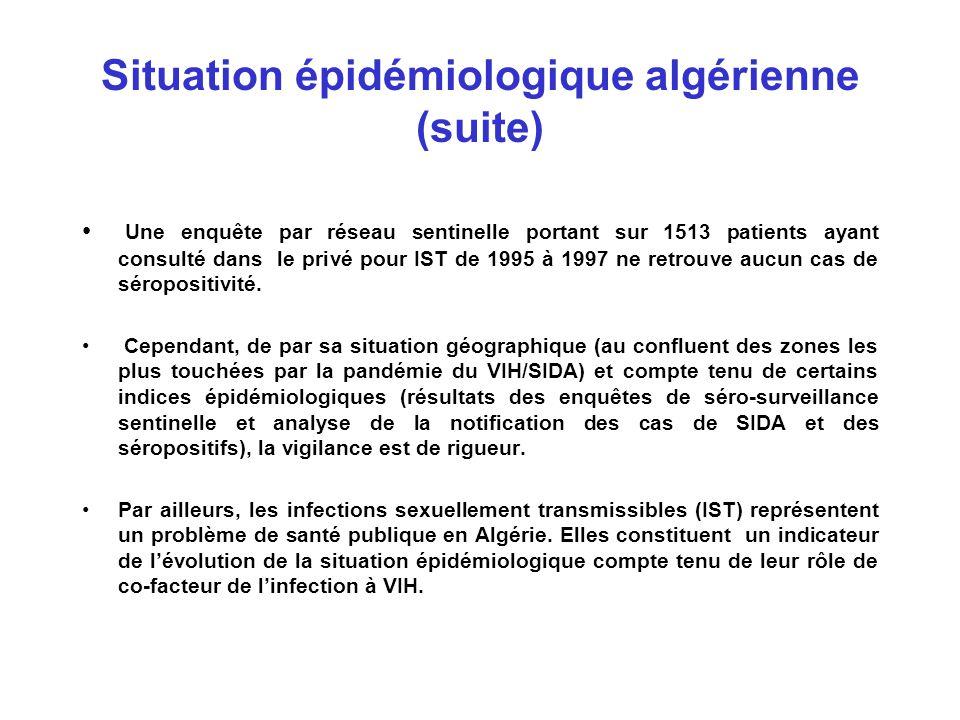 Situation épidémiologique algérienne (suite)