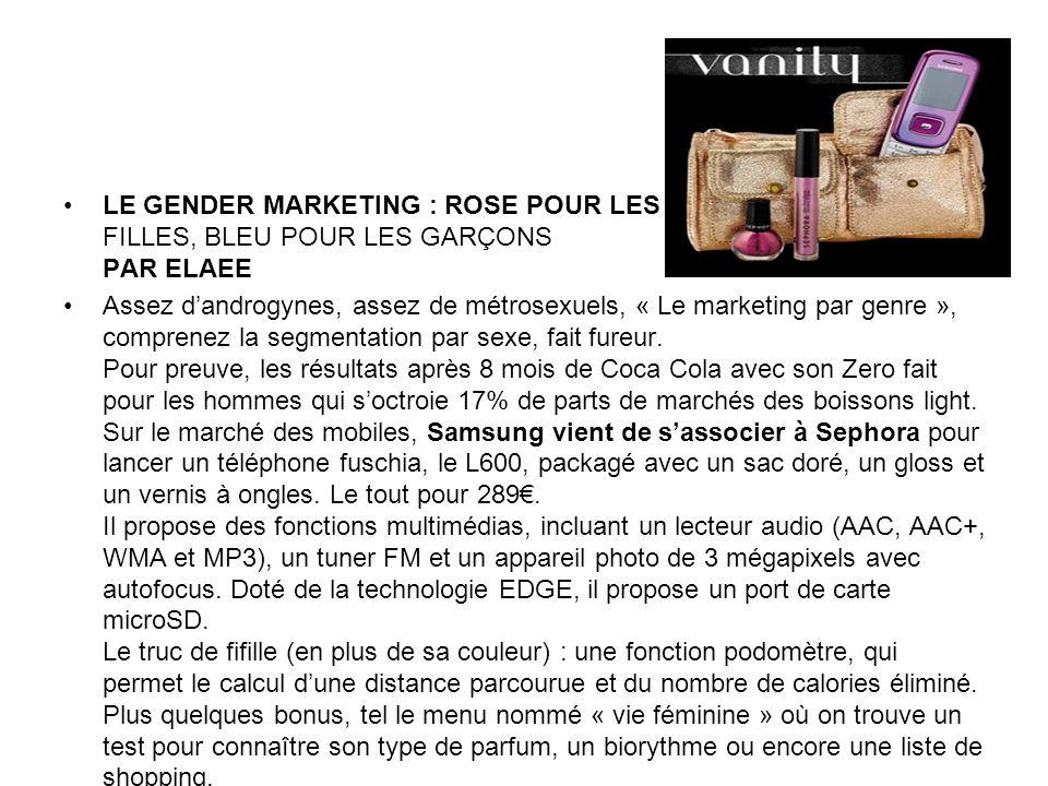 Le gender marketing : rose pour les filles, bleu pour les garçons Par elaee