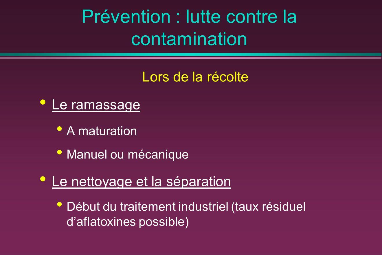 Prévention : lutte contre la contamination
