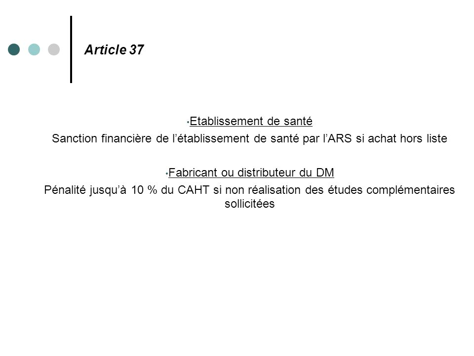 Article 37 Etablissement de santé