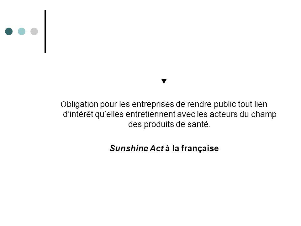 Sunshine Act à la française