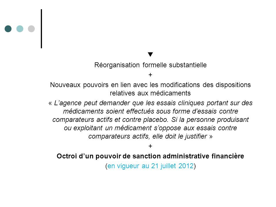 Octroi d'un pouvoir de sanction administrative financière