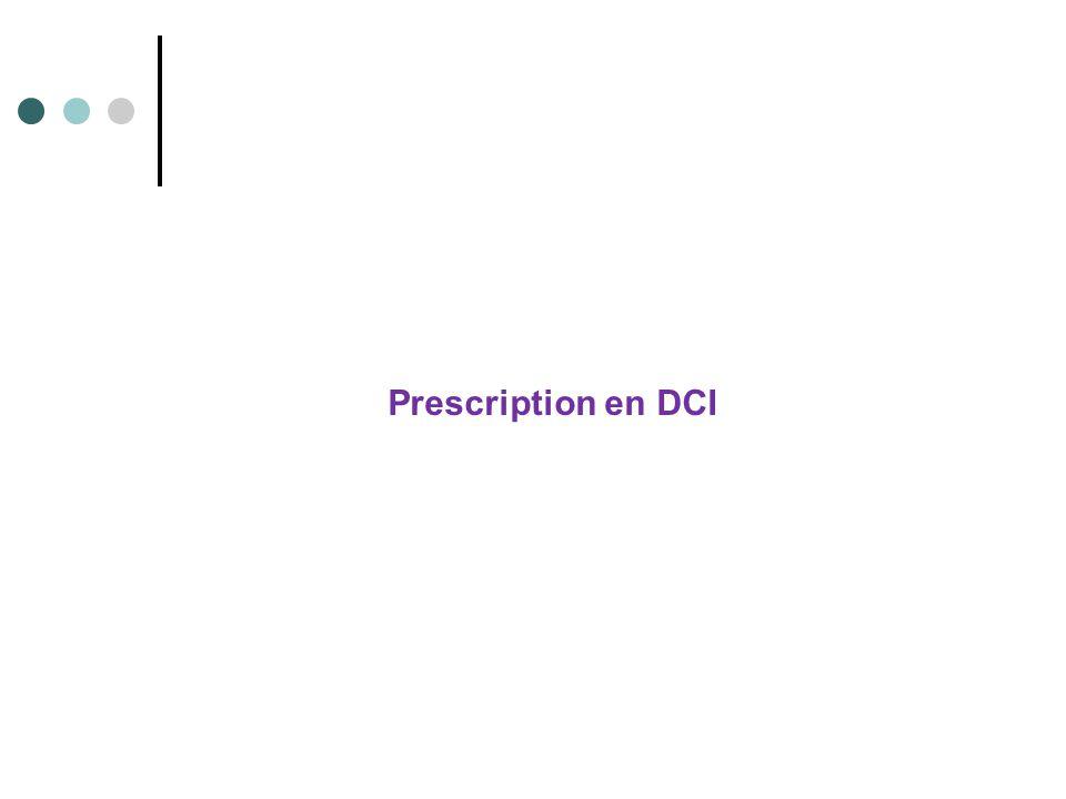 Prescription en DCI