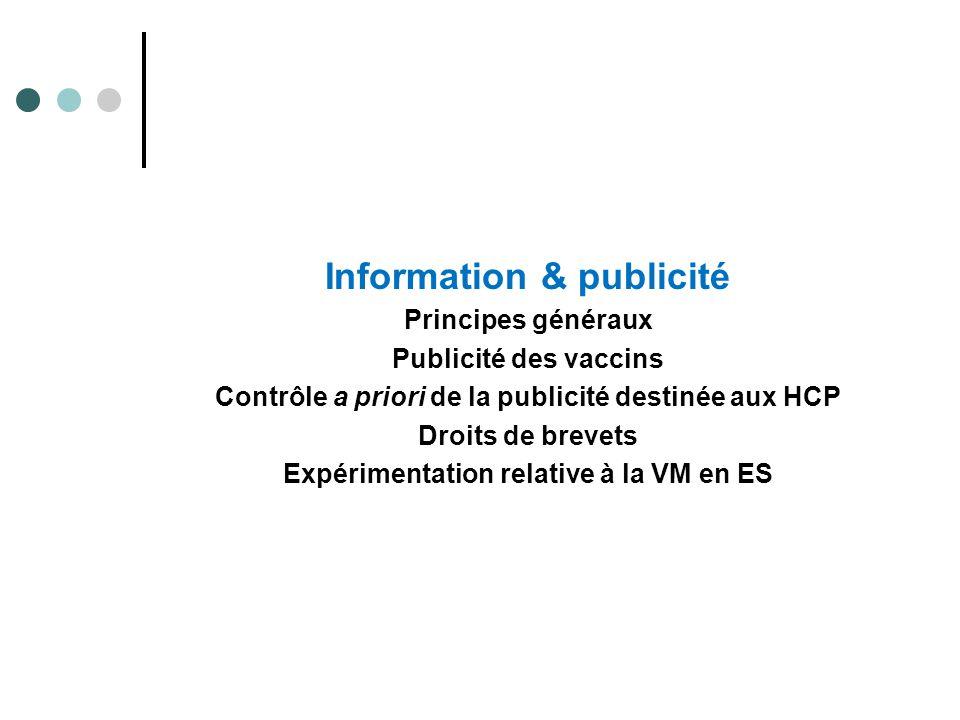 Information & publicité