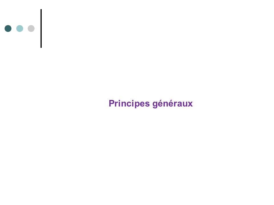 Principes généraux