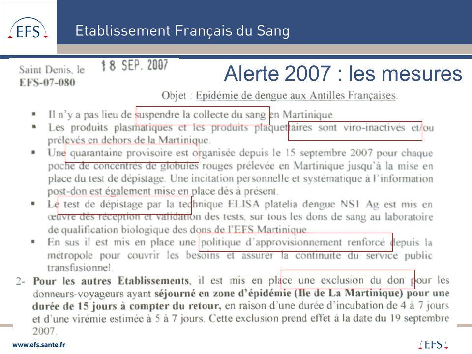 Alerte 2007 : les mesures