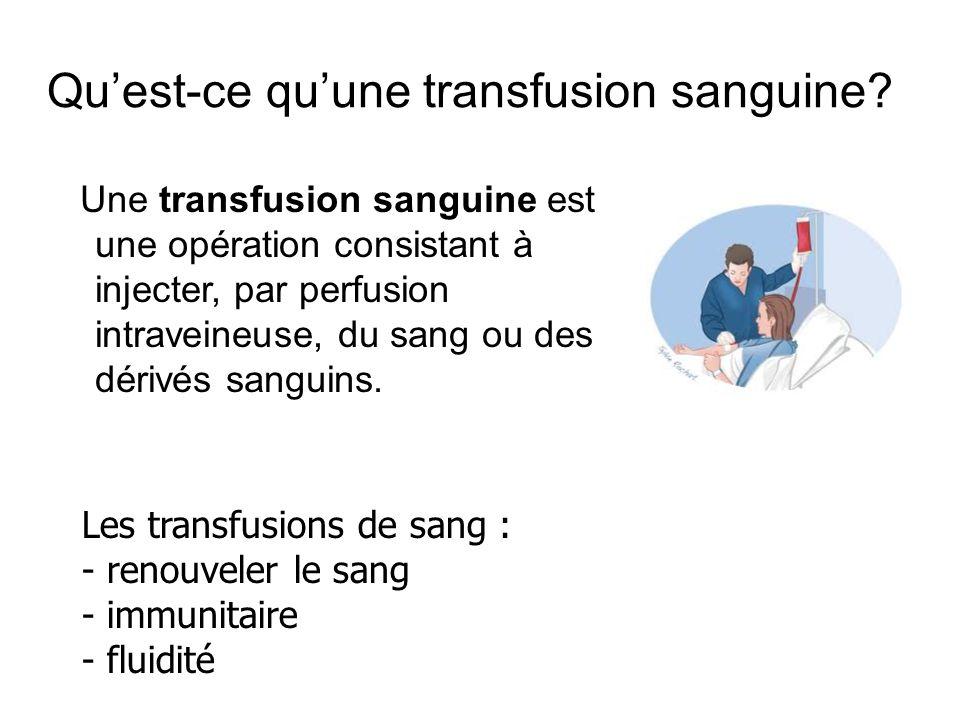 Qu'est-ce qu'une transfusion sanguine