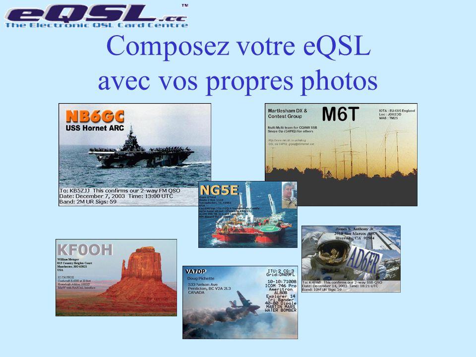 Composez votre eQSL avec vos propres photos