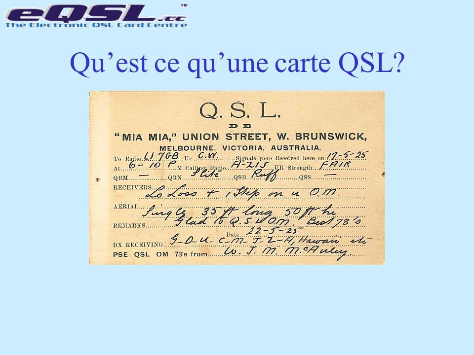 Qu'est ce qu'une carte QSL
