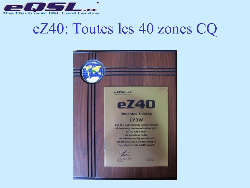 eZ40: Toutes les 40 zones CQ