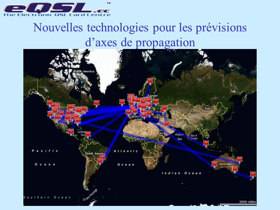 Nouvelles technologies pour les prévisions d'axes de propagation based on actual logged QSOs, not theory!
