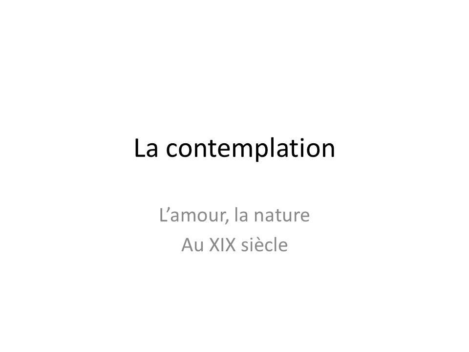 L'amour, la nature Au XIX siècle