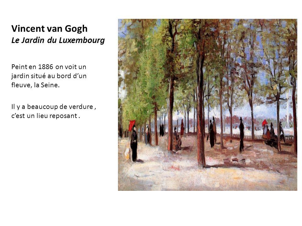 Vincent van Gogh Le Jardin du Luxembourg