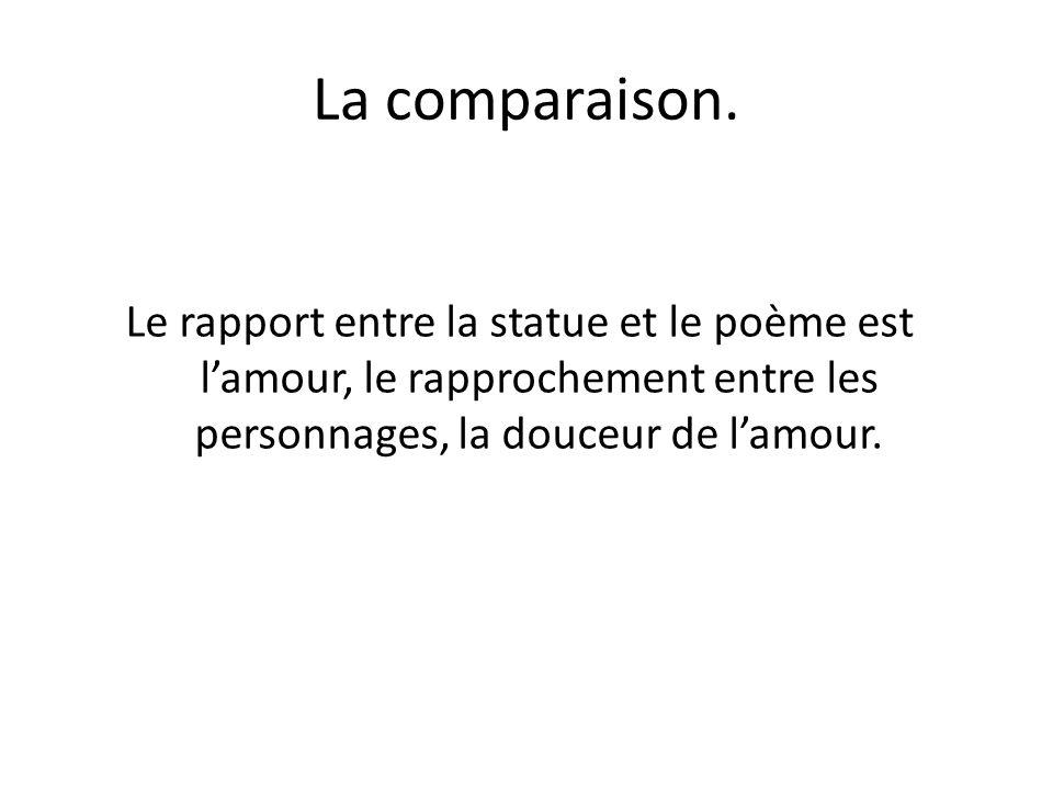 La comparaison.