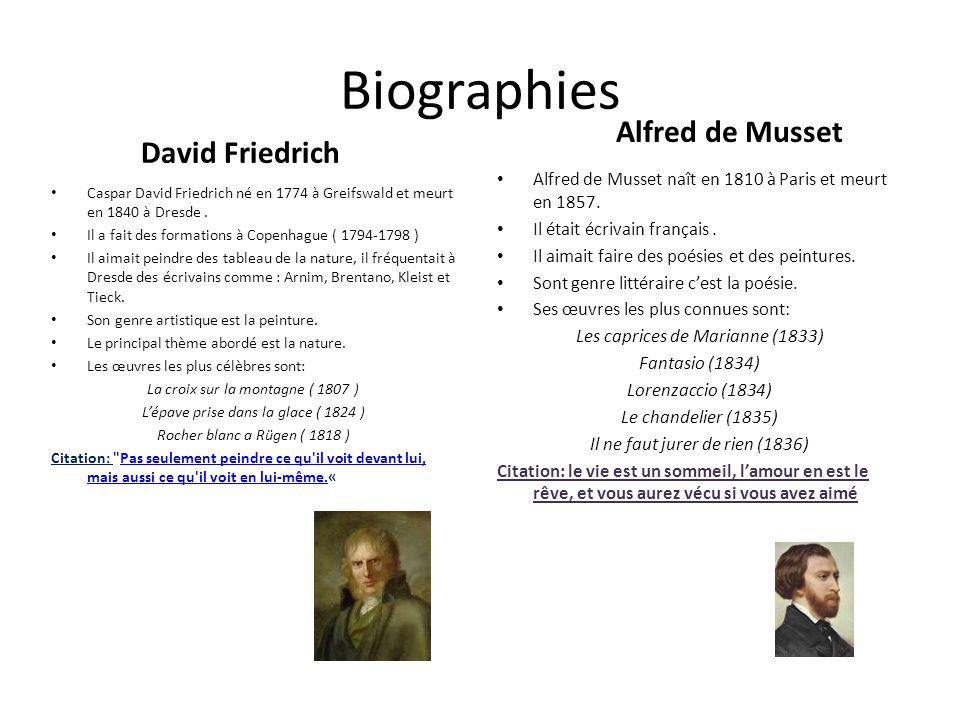 Biographies Alfred de Musset