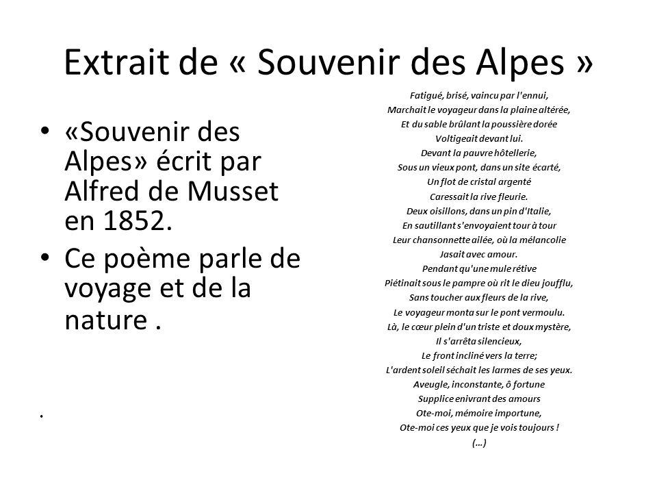 Extrait de « Souvenir des Alpes »