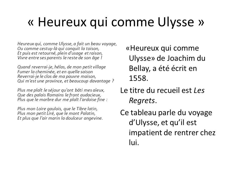 « Heureux qui comme Ulysse »