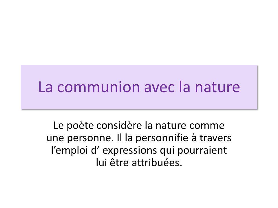 La communion avec la nature