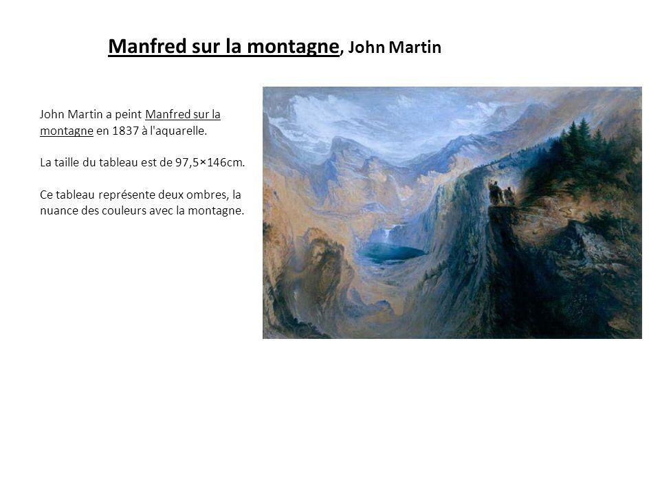 Manfred sur la montagne, John Martin