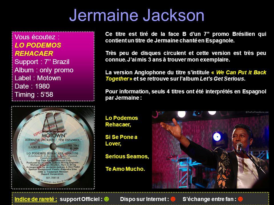 Jermaine Jackson Vous écoutez : LO PODEMOS REHACAER