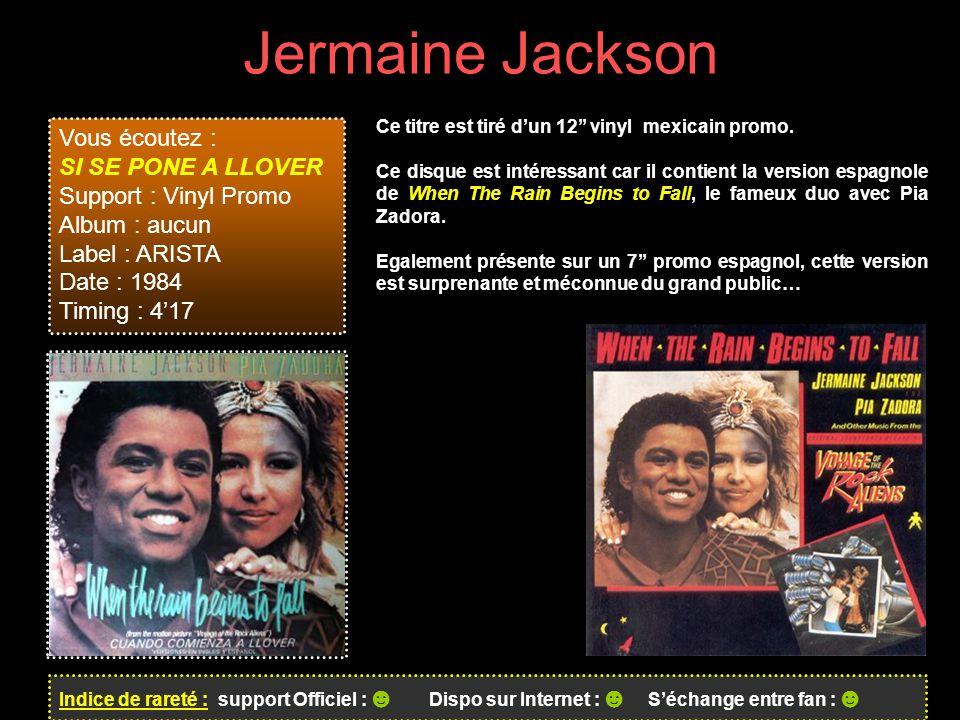 Jermaine Jackson Vous écoutez : SI SE PONE A LLOVER
