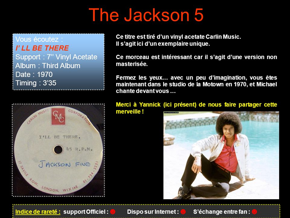 The Jackson 5 Vous écoutez : I' LL BE THERE