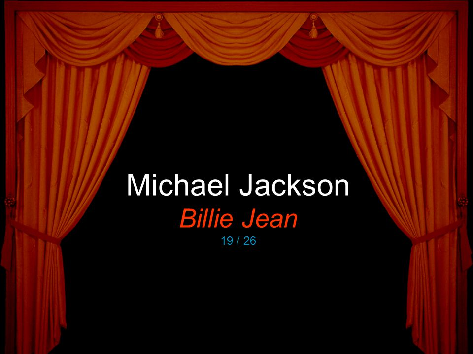 Michael Jackson Billie Jean 19 / 26
