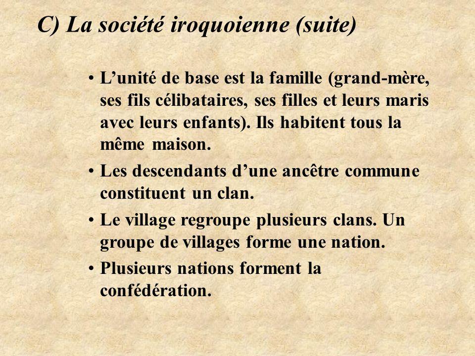 C) La société iroquoienne (suite)