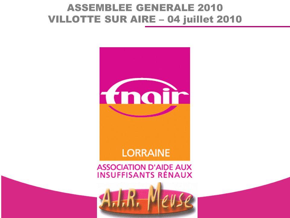 ASSEMBLEE GENERALE 2010 VILLOTTE SUR AIRE – 04 juillet 2010