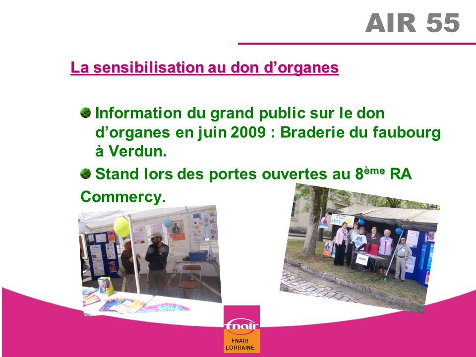 AIR 55 La sensibilisation au don d'organes
