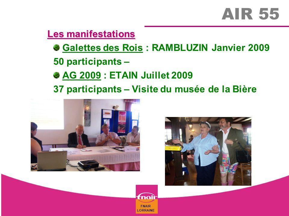 AIR 55 Les manifestations Galettes des Rois : RAMBLUZIN Janvier 2009